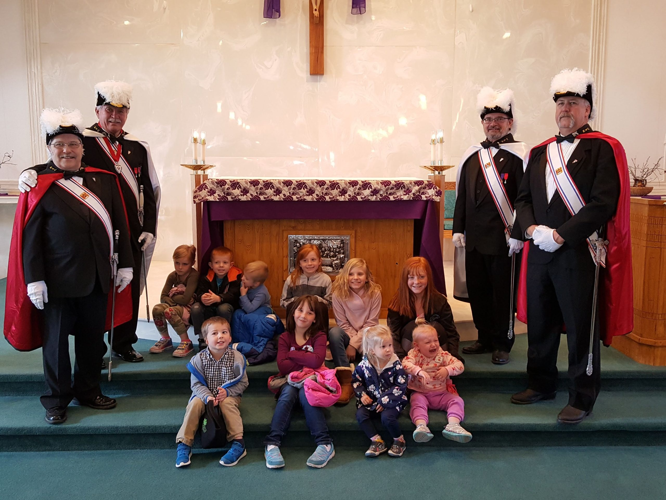 WP4th Degree Knights At Church With Kids