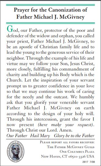 WPCanonization Prayer Fr. McGivney